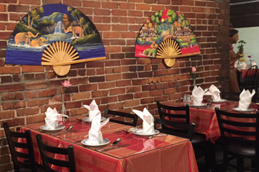 Tuk Tuk Thai Interior Tables